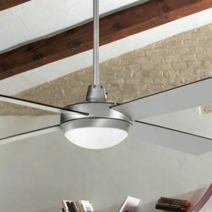 03950986CR Ventilador de techo c/luz ( Aluminio, palas reversibles-gris ) d.132xh30 cms