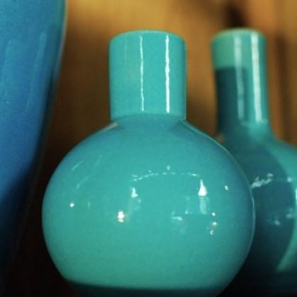 Botellas turquesas