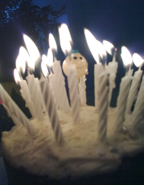 The Origin of Birthday Candles - photo of lit birthday candles on cake