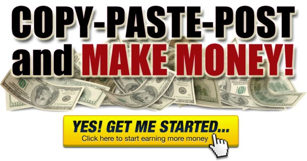 copy and paste to make money