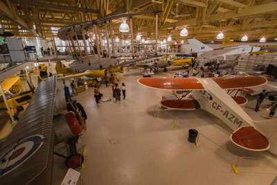 The Aero Space Museum of Calgary viewed from the second floor