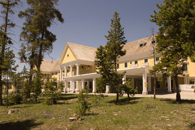 The historic Lake Yellowstone Hotel