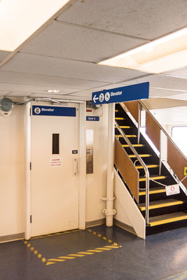 Photo showing elevator access