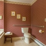 Toilet in the bathroom of the Shadowood Burgundy Room
