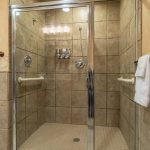 Shower in suite 1903 at the Mt. McKinley Princess Wilderness Lodge