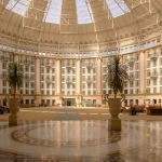 The atrium lobby under the dome at West Baden Springs Hotel