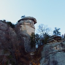 View of Chimney Rock from the parking lot