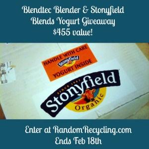 Blendtec Blender and Stonyfield Yogurt Giveaway