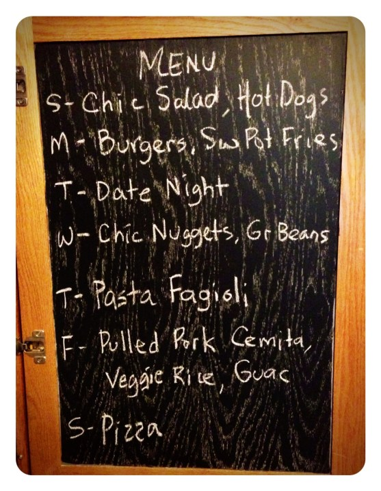 Monday Meal Plan May 20
