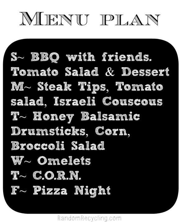 August meal plan week 2