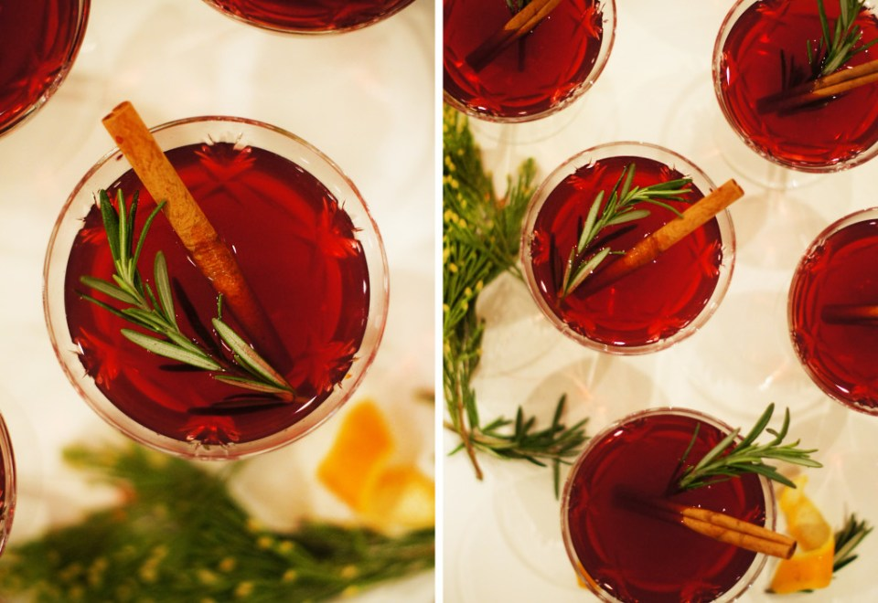 The best Holiday Drinks - Pomegranate Twist