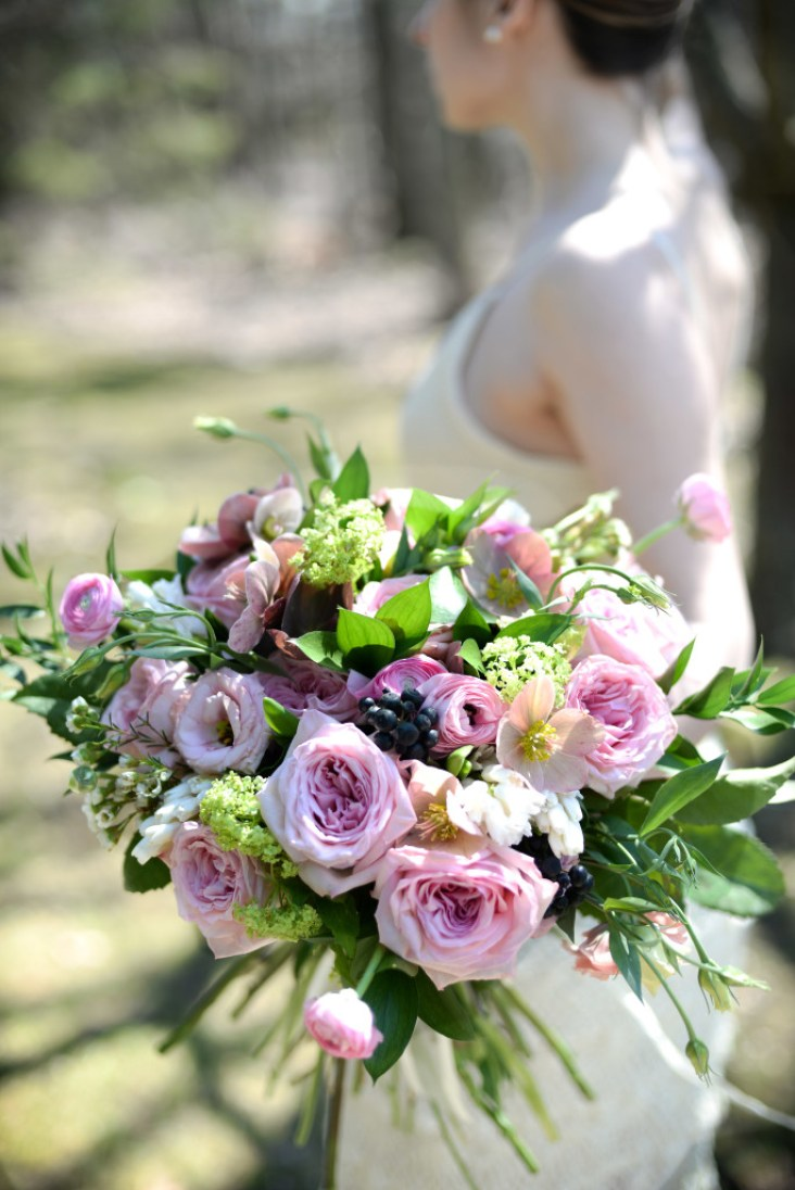 Bridal Bouquet with Garden Roses