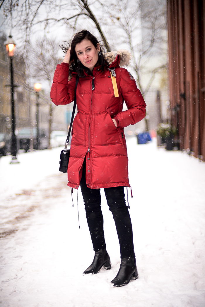 Parajumpers Winter Parka worn in Toronto by Threads & Blooms