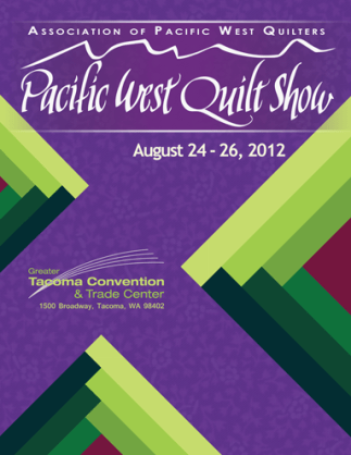 Program cover developed for the APWQ 2012 Pacific West Quilt Show.