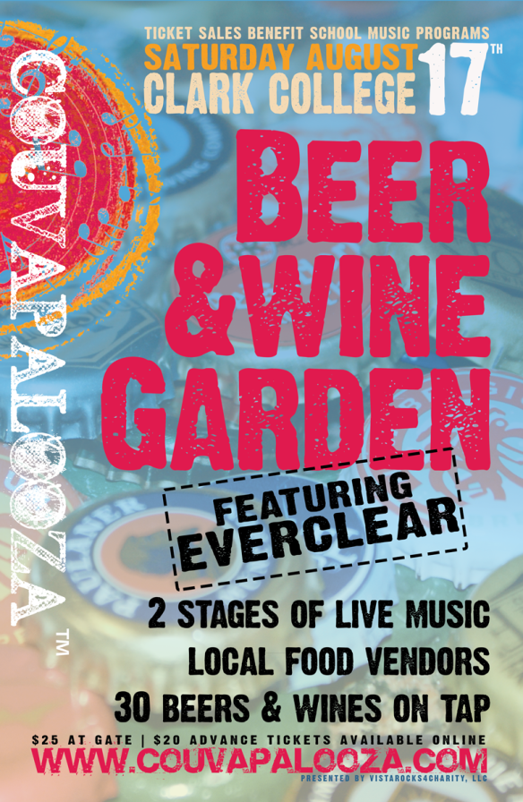"11""x17"" poster developed for event that was not distributed to emphasize the beer & wine garden aspect of the event."