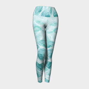 Watercolor Leggings, Yoga Leggings, Dance Leggings