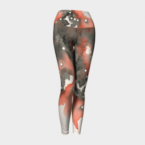 Watercolor Leggings, Art Leggings, Orange Leggings