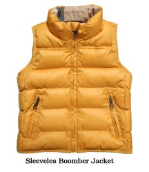 sleeveless boomber jacket
