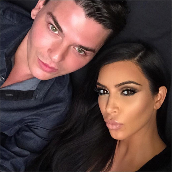 0 kim kardashian and Mario Dedivanovic,