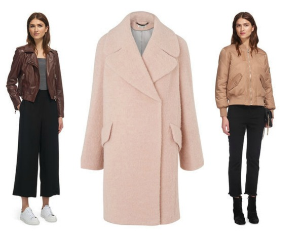 Jane sites the biker jacket, pink coat and the reversible bomber are must-have pieces from the Whistles collection