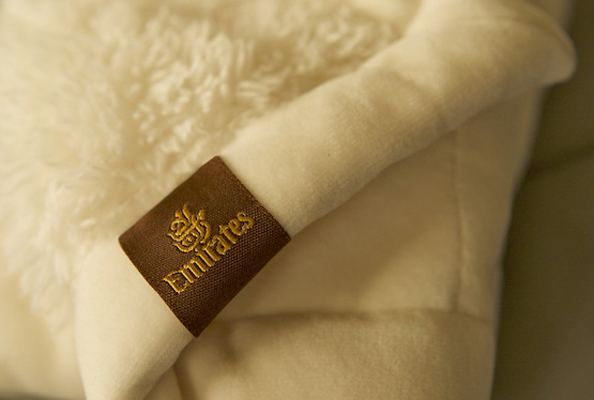 emirates first class blanket