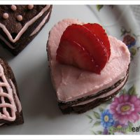 Let's put our hearts together - Double Chocolate Brownie Cakes