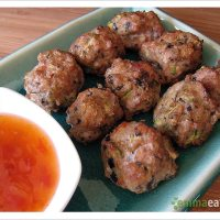 On top of spaghetti (or not) - Baked Chicken Meatballs
