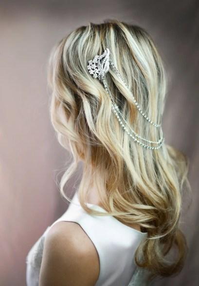 boho bridal hair chain 2