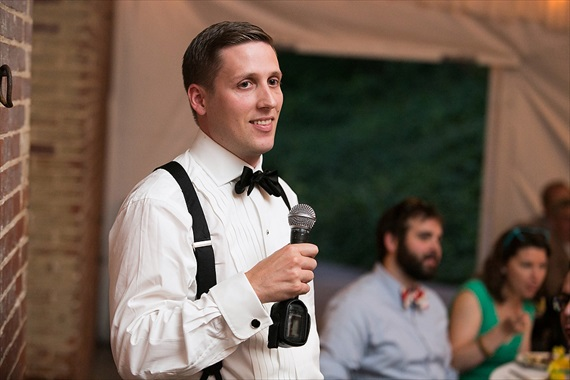 Dennis Drenner Photographs - baltimore museum wedding - best man speech