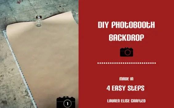 diy photobooth backdrop