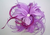 purple feather hairpiece