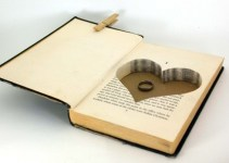 hollow book safe with heart for ring