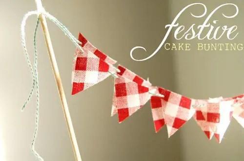picnic wedding - gingham cake bunting