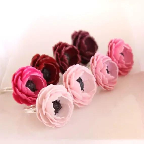 paper flower rings
