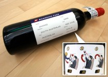 boarding pass wine label