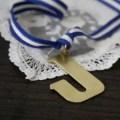 monogram bouquet charm