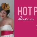 hot pink dress sash