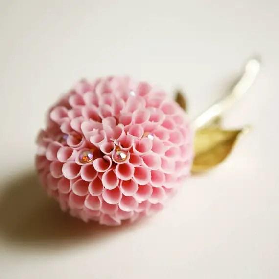 vintage flower brooch - 5