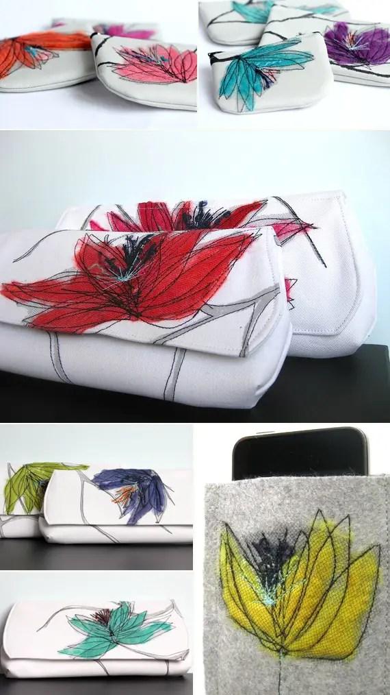 handmade bridesmaid clutches
