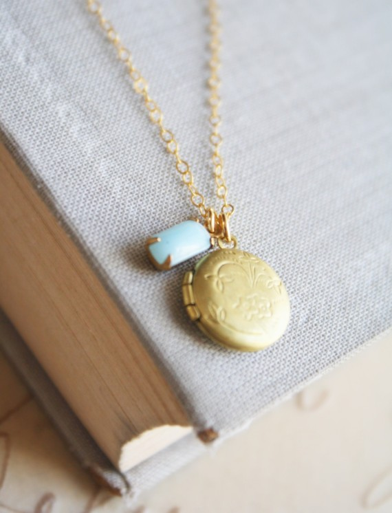 something blue locket