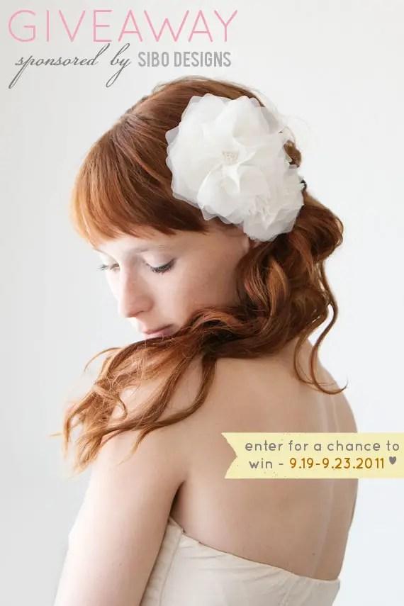 bridal hair piece giveaway