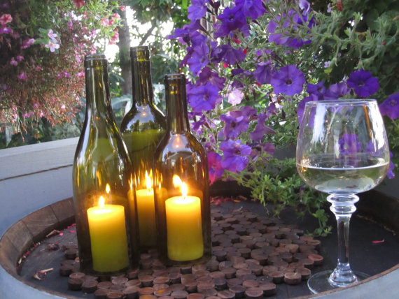 1 for Make candle holder wine bottle