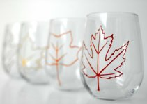 fall wedding glassware