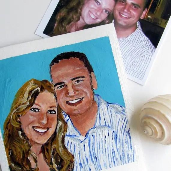 polaroid wedding ideas - custom polaroid painting