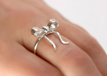 bridesmaid bow ring