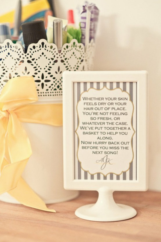 5 wedding bathroom ideas free printable emmaline bride for Bathroom basket ideas for wedding