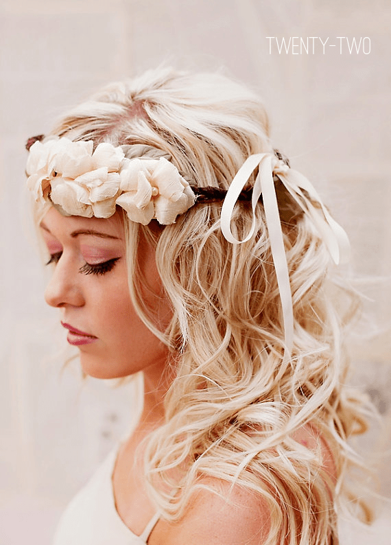 bohemian wedding hair crown