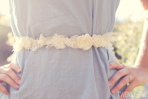 bohemian wedding sash