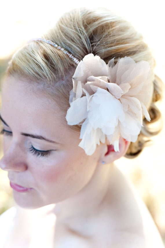 bridal headband as wedding veil alternative