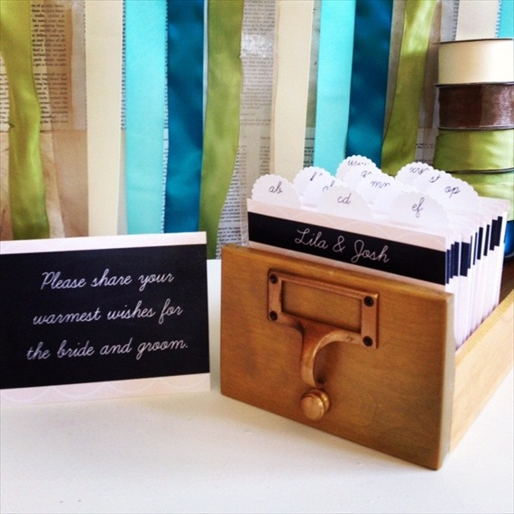 card catalog guest book